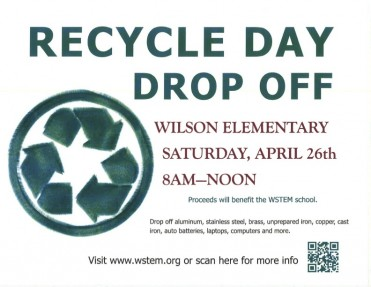 WSTEM Celebrates Earth Week with Recycle Day Drop-Off